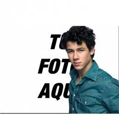Haz un foto efecto junto con Nick Jonas. Fotomontaje junto con Nick