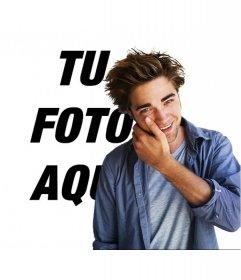Fotomontaje para hacerte una foto con Robert Pattinson de la pelicula Crepusculo
