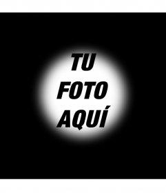 Efecto para fotos de enfocado sobre fondo negro para poner una foto en el fondo
