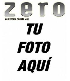 Portada personalizada con tu foto de la revista gay ZERO