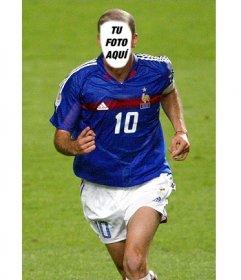 Fotomontaje para ponerle una cara a Zinedine Zidane online