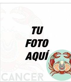 Fotoefecto online del signo del zodiaco Cáncer