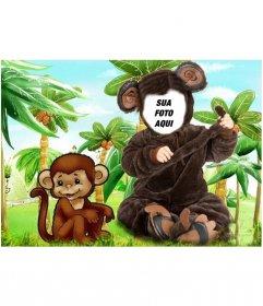 Monkey fantasia para crianças que você pode colocar uma foto
