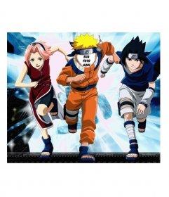 Colocar um rosto no corpo de Naruto com este efeito