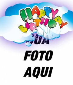 Cartão do feliz do aniversário com balões