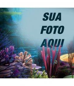 Sua foto no oceano com corais, basta enviá-lo para este efeito foto