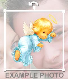 Desenho da etiqueta de um anjo