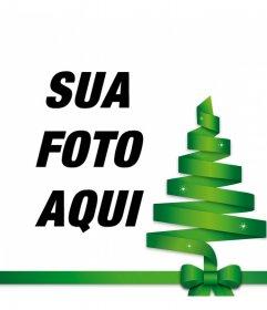 Árvore de Natal do vetor para decorar a sua foto