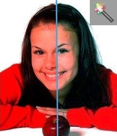 Foto filtro de correção de gama automaticamente para modificar fotos online