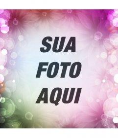 Criar um de redes sociais avatar on-line com flores e luzes coloridas sobre sua imagem de perfil e mostrar-off o seu design