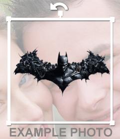 Coloque o morcego Batman Origins em suas fotos