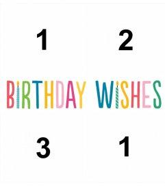 ANIVERSÁRIO colagem de quatro fotos e comemorar seu aniversário