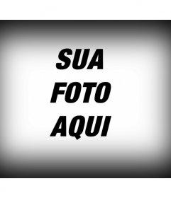 Filtro de fotografia para aplicar a uma imagem digital, que consiste de uma borda para a imagem gradiente de preto como um editor de fotos