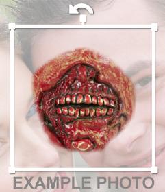 Boca Zombie para adicionar às suas fotos e criar um especial efeito