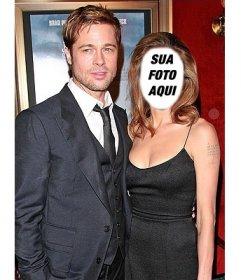 Efeito de editar com sua foto e ser Angelina Jolie com Brad Pitt
