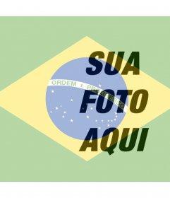 Coloque a bandeira do Brasil ao lado de sua foto online