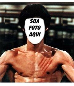 Ponha seu rosto no corpo de Bruce Lee com este