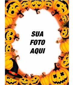 Molduras fotográficas com abóboras de Halloween