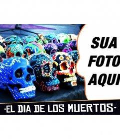 Colagem para o Dia dos Mortos no México