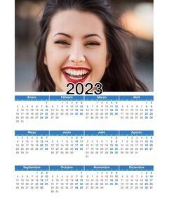 Calendário 2020 ano completo 12 meses com sua foto