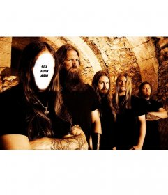 Fotomontagem para adicionar seu rosto em um cantor de heavy metal