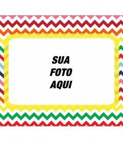 Em forma de carta quadro para colocar sua foto em várias cores. photo frame