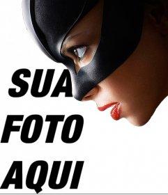 Catwoman fotomontagem para colocar uma foto ao lado dele