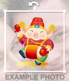 Porco sorte ano novo chinês