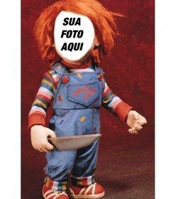Fotomontagem de Chucky para colocar seu rosto