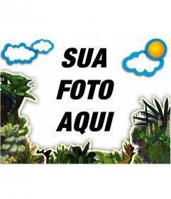 Fotos do quadro de vegetação e nuvens para decorar suas fotos