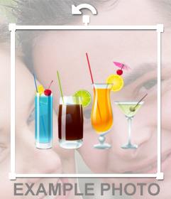 Seu verão, colocar no seu perfil bebidas retrato verão para dizer que estavam de férias