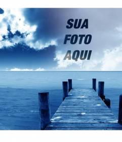 Fotomontagem para criar colagens com sua imagem e fundo do céu