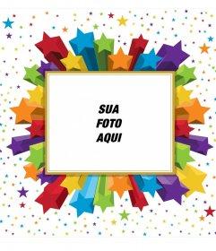 Retangulares Photo Frame estrelas coloridas, que você pode usar para sua foto do perfil