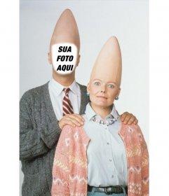 Fotomontagem do cone principal estrangeiro para colocar a sua foto no homem
