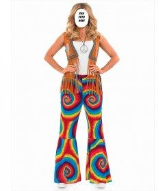Fotomontagem on-line para colocar seu rosto em uma mulher hippie