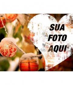 Coração do Natal para colocar foto de capa no Facebook