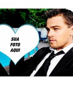 Coloque sua foto em um coração com Leonardo Dicaprio
