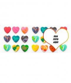 Capa personalizada foto no Facebook com corações