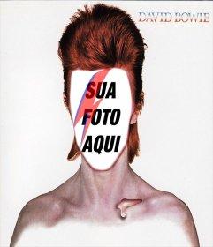 Fotomontagem com a capa do CD de David Bowie