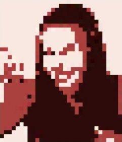 Crie seu próprio personagem cryptopunk pixel art com sua foto