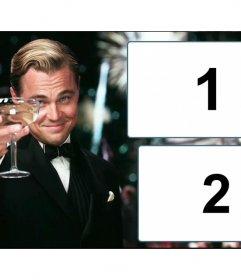 Colagem de duas fotos para personalizar com The Great Gatsby
