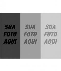 Montagem de filtros fotográficos. upload de uma foto e com este modelo você recebe um composto de três fotografias em gradiente de tons de cinza