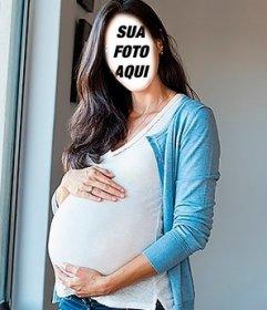 Fotomontagem da mulher grávida para fazer online