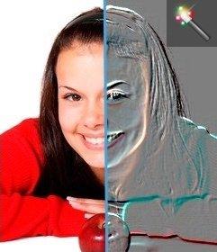 Efeito de relevo para sua foto. Editar sua foto com este relevo efeito da foto. Imagem on-line de filtragem