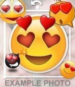Editor para colocar emojis apaixonados por corações