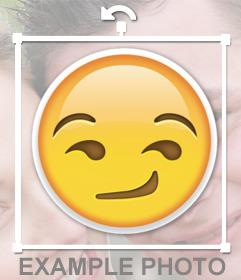 Etiqueta do emoji desonestos do WhatsApp para o seu efeito fotos