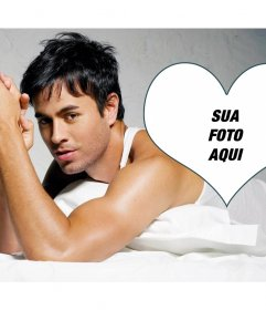 Fotomontagem com o cantor Enrique Iglesias