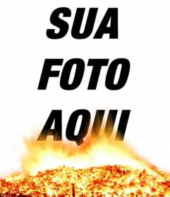 Coloque suas fotos na foto e brasasa efeito de fogo. Parece queimar suas fotos!