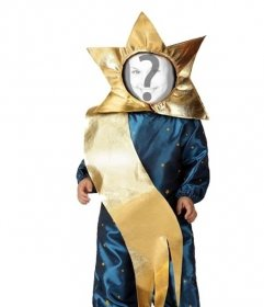 On-line e divertido traje para as crianças de estrela do Natal