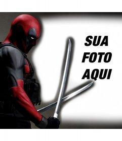 Deadpool em suas fotos com este efeito de foto livre para editar
